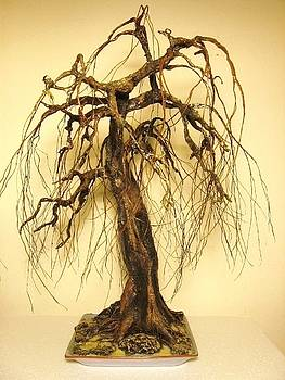 Recycled Bonsai Tree Sculpture All Hand Made No Wires  No Wood by Nelbert  Flores