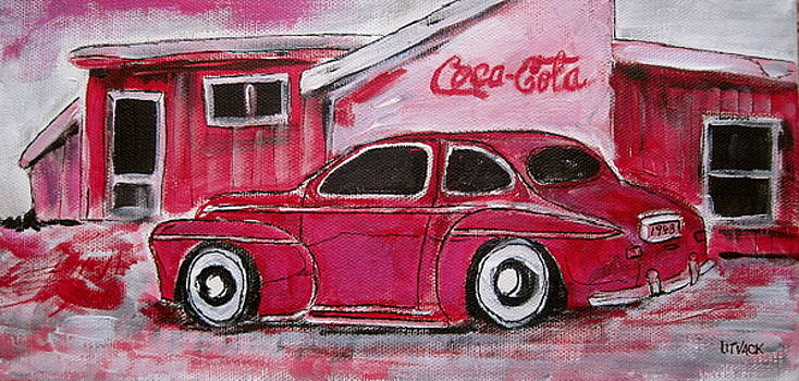 Red 1948 Ford Coupe by Michael Litvack