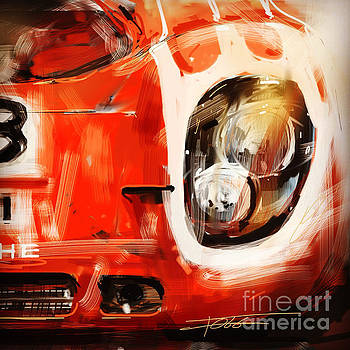 Red 917 Crop by Peter Fogg