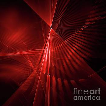 Red Abstract Background by Kim French
