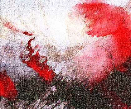 Red Abstract by Jean-Paul Devarenne