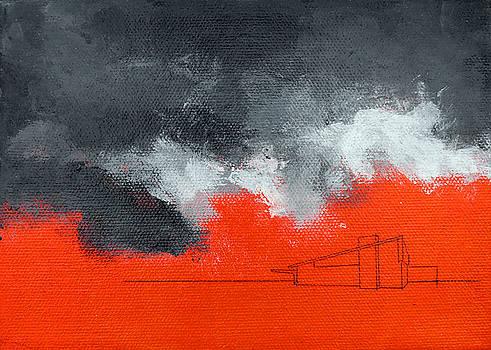 Stan  Magnan - Red Alexander Black Sky