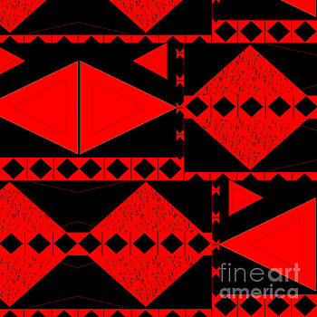 Red And Black - An Arrangement With Tension by Helena Tiainen