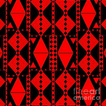 Red And Black Diamonds by Helena Tiainen