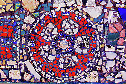 Jill Lang - Red and Blue Mosaic Tiles