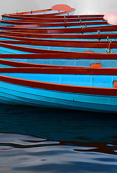 Red and Blue Paddle Boats by Caroline Reyes-Loughrey