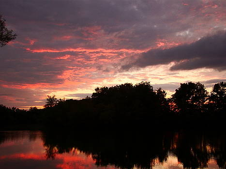 Red And Gray Evening by J R Seymour