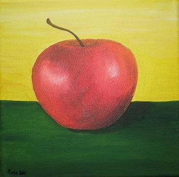 Red apple by Ema Dolinar Lovsin
