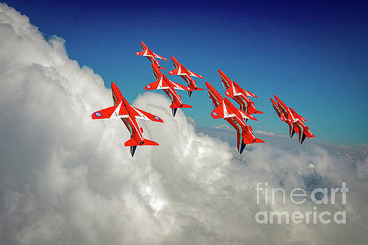 Red Arrows sky high by Gary Eason