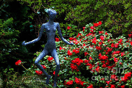 Red Azalea Lady by Susanne Van Hulst