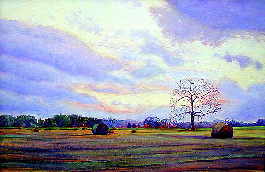 Red Bales by Stacey Breheny