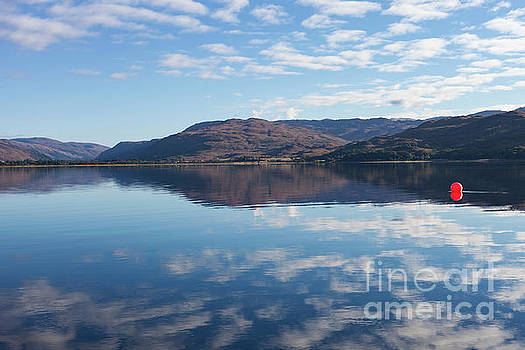 Red Ball On Loch Carron  by Diane Macdonald