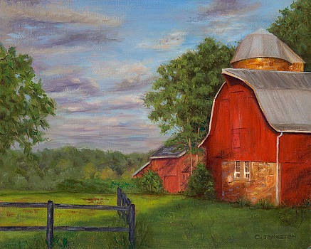 Red Barn at Dawn by Christa Eppinghaus