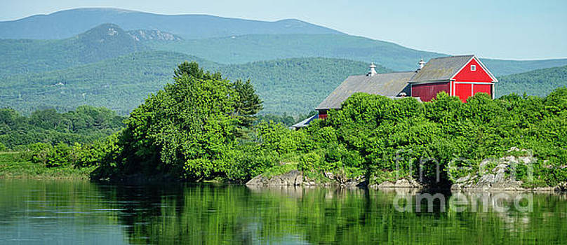 Red Barn Connecticut River Mug by Edward Fielding