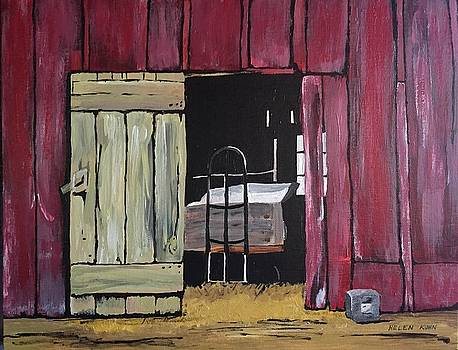 Red Barn Door by Helen Kuhn