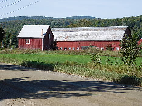 Red Barn in Coventry Vermont by Catherine Gagne