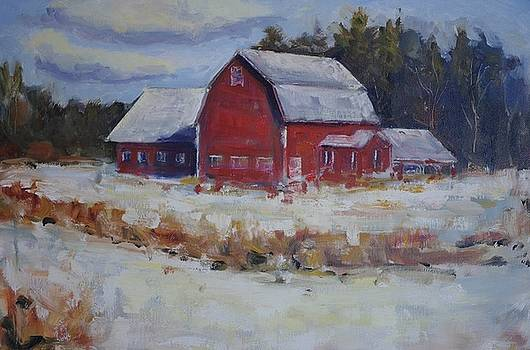 Red Barn in Snow by James Reynolds