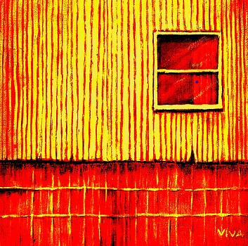 Red Barn In Sunshine by VIVA Anderson