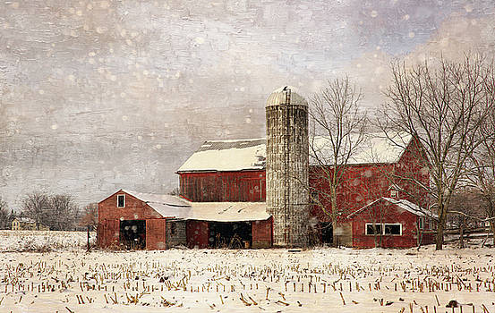 Red Barn in Winter by Scott Fracasso