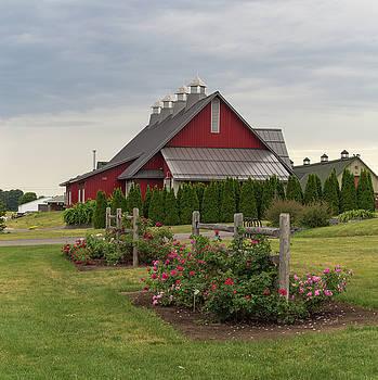 Red barn by Josef Pittner