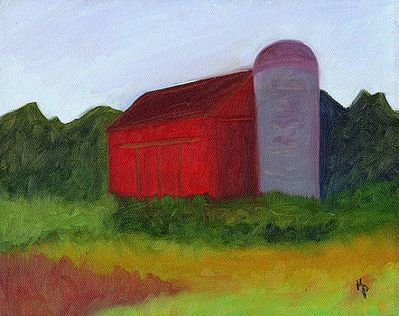 Red Barn by Kelly  Parker