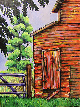 Red Barn by Rachel Cotton