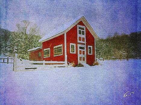 Red  Barn by Robert Cattan