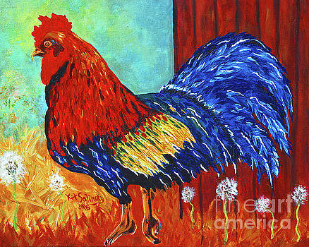 Red Barn Rooster by Kat Solinsky