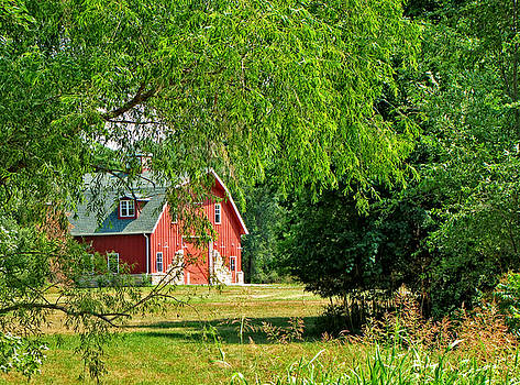 Red Barn Serenity by Paula Anderson