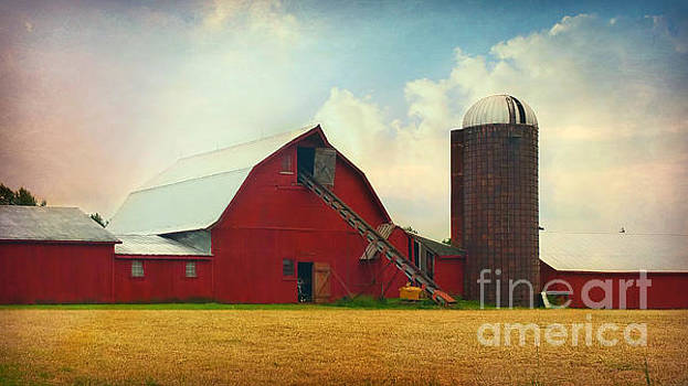 Red Barn Silo by Beth Ferris Sale
