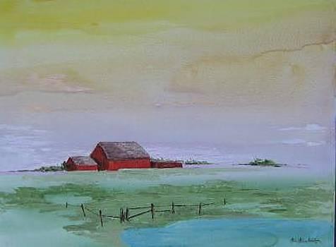 Red Barn Skyline by Stan  Sternbach