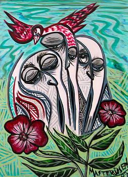 Red Bird by Anthony Masterjoseph