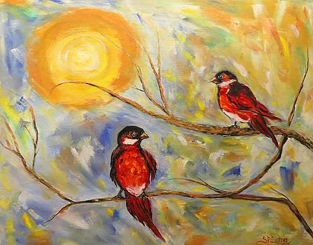 Red Birds by Sandra Cutrer