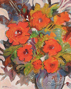 Red Blossoms by Sheila Golden