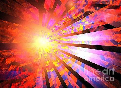 Red Blue Rays by Kim Sy Ok
