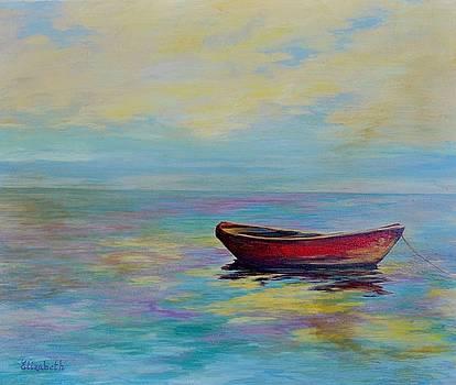 Red Boat Alone by Beth Maddox