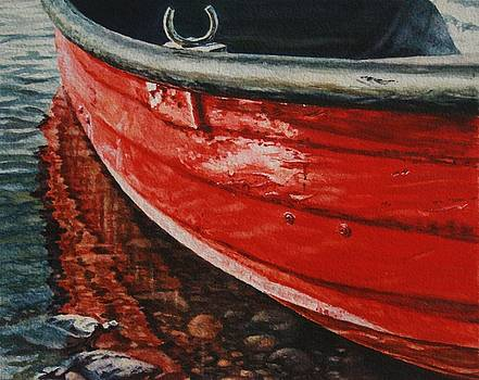 Red Boat by Cherie Sikking