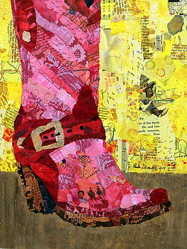 Red Boot by Paula Dickerhoff