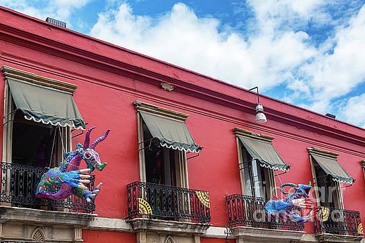 Red Building and Alebrije by Jess Kraft