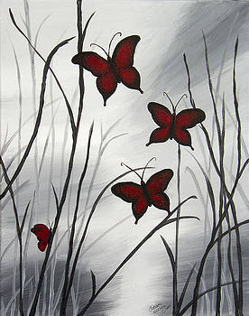 Red Butterflies by Christie Nicklay