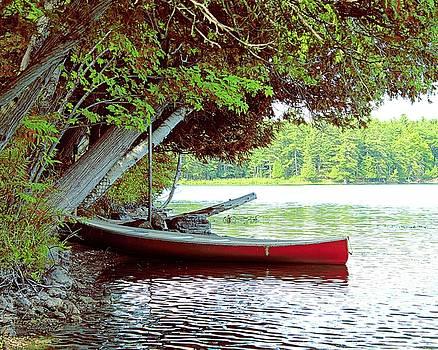 Red Canoe by Iris Russak