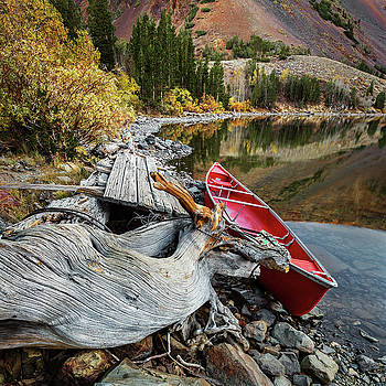 Rick Strobaugh - Red Canoe on the Lake