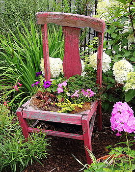 Allen Nice-Webb - Red Chair Planter