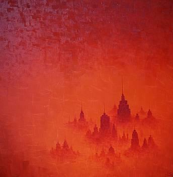 Red City Dusk by Lisa Stevens