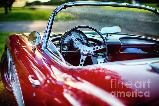 Red Classic Corvette Close Up by George Oze