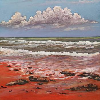 Red Clay Beach by Eve  Wheeler