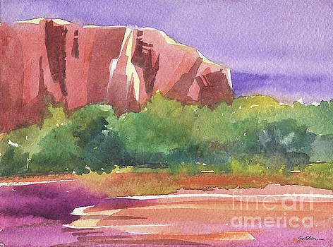 Red Cliff Reflection#2 by Sheila Golden
