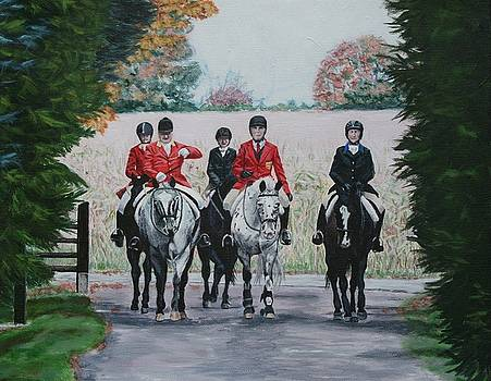 Red Coats by Wendy Whiteside