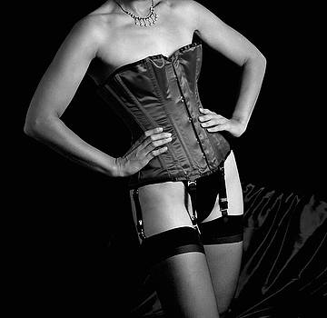 Red Corset BW  by Stuart Brown
