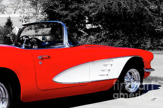 Red Corvette  by Steven Digman